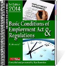 Basic Conditions of Employment Act & Regulations