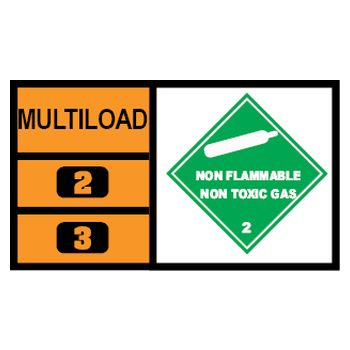 MULTILOAD (of class 2.2 gases)