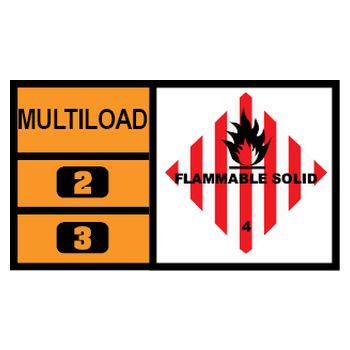 MULTILOAD (of class 4.1 - flammable solids)