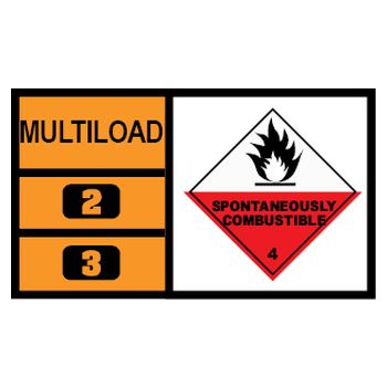 MULTILOAD (of class 4.2 - spontaneously combustible substances)