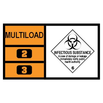 MULTILOAD (of class 6.2 - infectious substances)