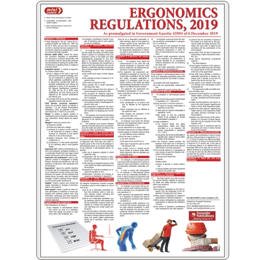 MiniCHART - OHS Ergonomics Regulations, 2019