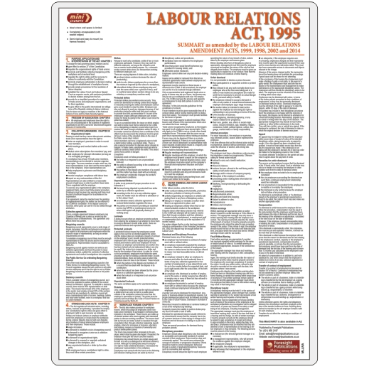 MiniCHART - Labour Relations Act Summary