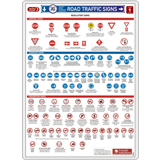 MiniCHART - SADC Road Traffic Signs 1