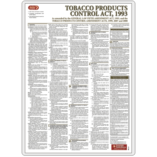 MiniCHART - Tobacco Products Control Act - as Amended