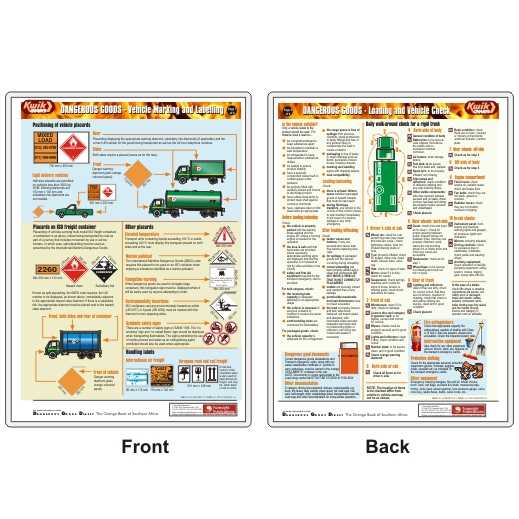 Vehicle Marking / Loading and Vehicle Check (A4 KwikCHART)