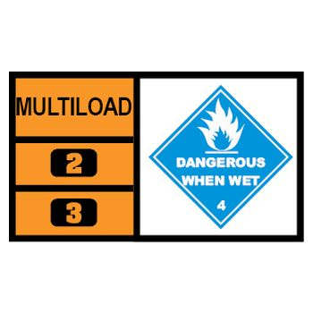MULTILOAD (of class 4.3 - dangerous when wet substances)