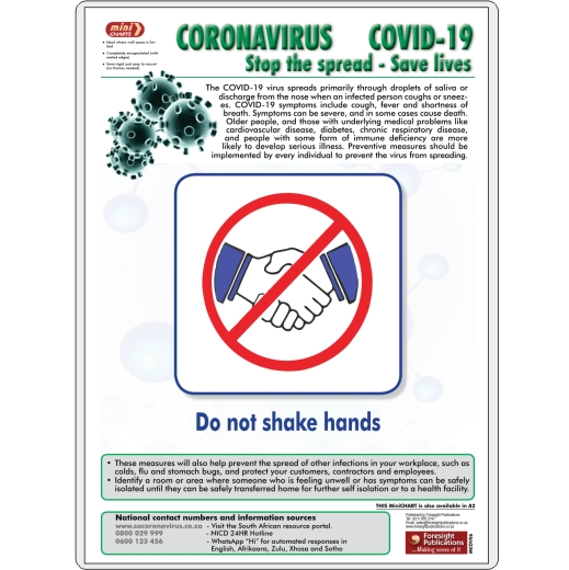 MiniCHART - Coronavirus 6 (Do not shake hands)
