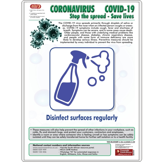 MiniCHART - Coronavirus 7 (Disinfect surfaces)