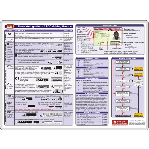 MiniCHART - Illustrated Guide to SADC Driving Licences