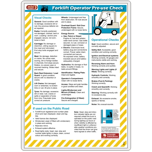 MiniCHART - Forklift Operator Pre-use Check