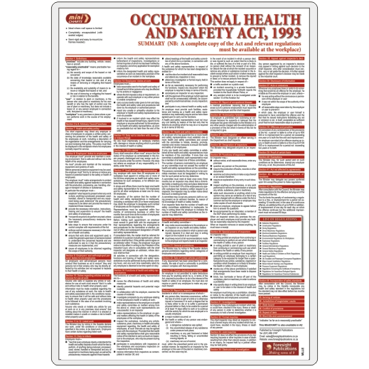MiniCHART - Occupational Health & Safety Act Summary