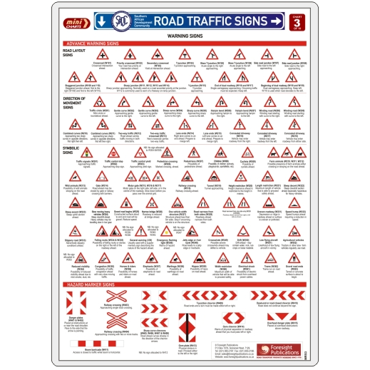 MiniCHART - SADC Road Traffic Signs 3